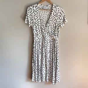 Maternity -ASOS white with black polka dots